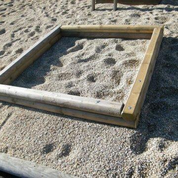 Pískoviště NATUR 2,1 x 2,1 m